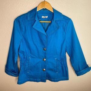 Joan Rivers Caribbean Blue Blazer Size Small